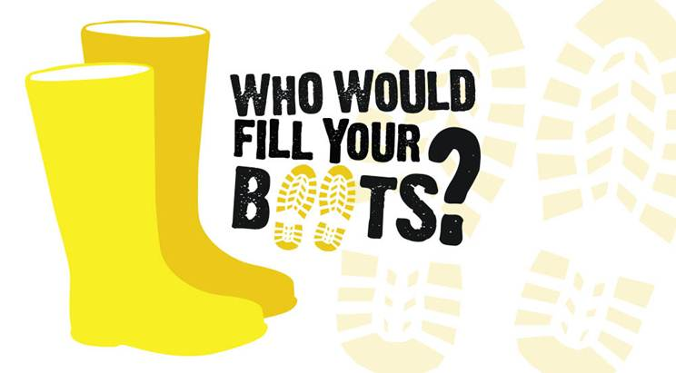 Who would fill your boots? logo