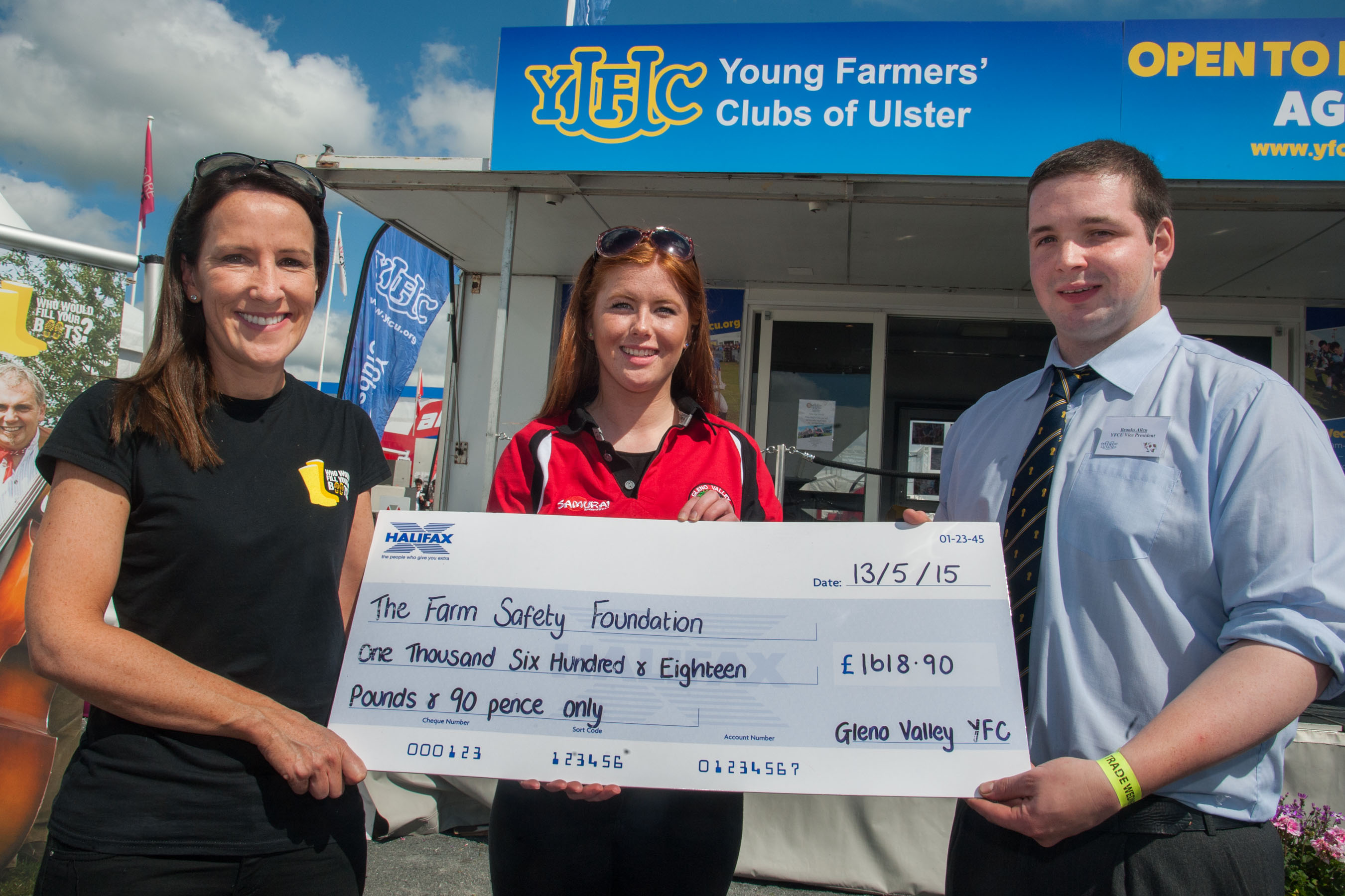 Farm Safety Foundation charity cheque